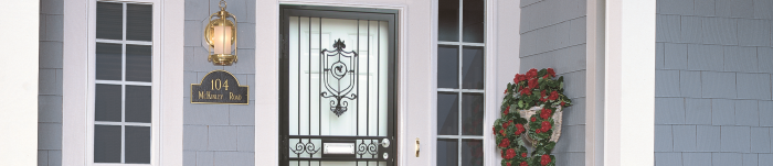 Chrome-Storm Door Chain- Protects Storm Doors From Damage Caused By Wind Gusts
